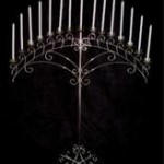 15 light arch silver candelabra