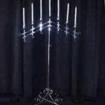 7 light silver candelabra